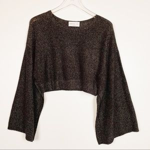 Babaton 1-01 Hyde Crop Sweater, Black and …